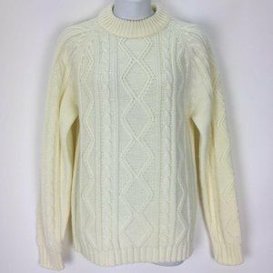 Vintage Sears Put On Shop Beige Cable Knit Sweater